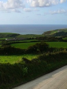 Cornish countryside facing Channel