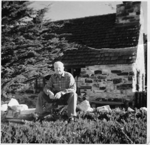 Grandpa Ware stone cottage Carmel circa 1950s